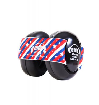 Black Ems for Bubs Baby Earmuffs - Stars n' Stripes