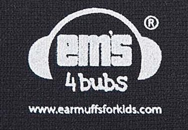 Ems for Bubs Baby Earmuffs - Black Headband